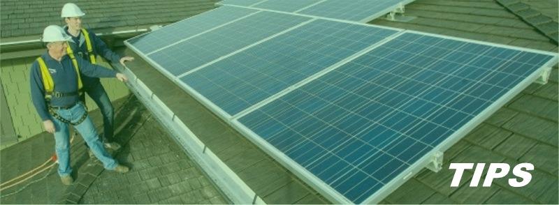 Zonnepanelen op dak TIPS