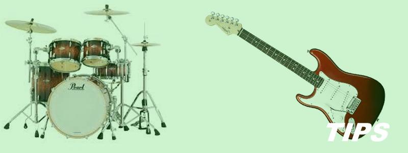 muziek spelen muziekinstrumenten muziekschool drumstel guitar TIPS