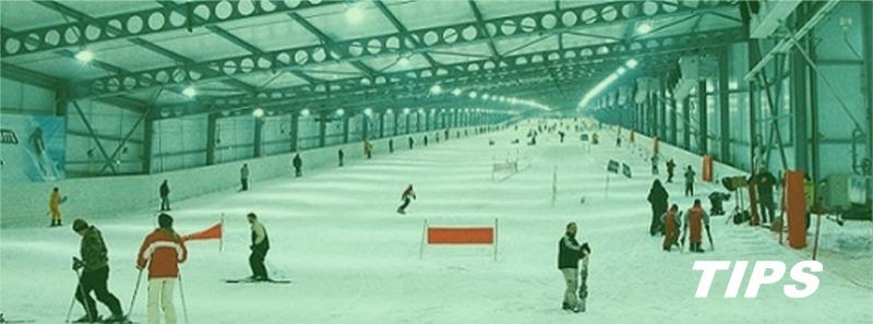 skiën en snowboarden met TIPS en piste indoor