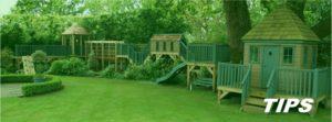 speeltoestel speeltuig buiten in de tuin TIPS