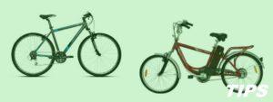 fietsen elektrische dames heren TIPS