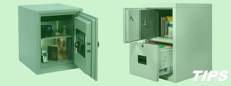 kluis brandkast voor documenten en geld bewaring TIPS