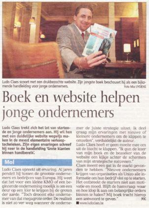Ludo Claes in Gazet Van Antwerpen