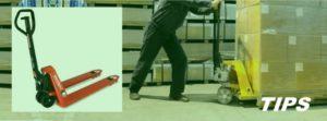 palletwagen pallettruck pompwagen TIPS