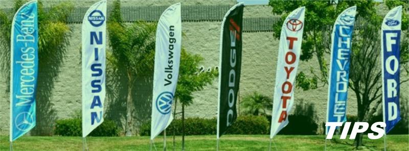 vlaggen banieren spandoek reclame op doek TIPS